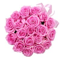 Bouquet Pink roses in a box