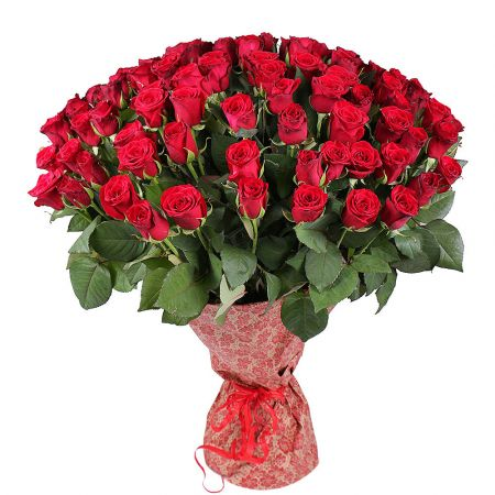 Bouquet 101 imported red roses