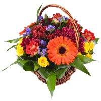 Bouquet In basket