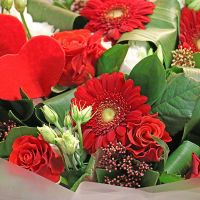 Bouquet by florist's choice on Valentine's Day