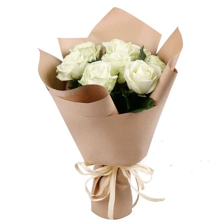 Bouquet 9 white roses