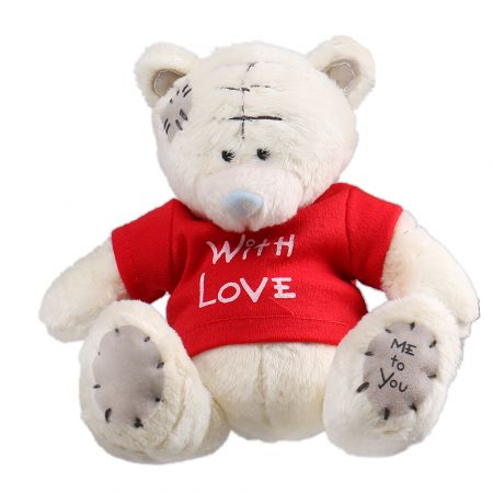 Product White teddy with love