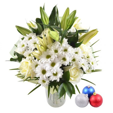 Bouquet White waltz + Christmas balls