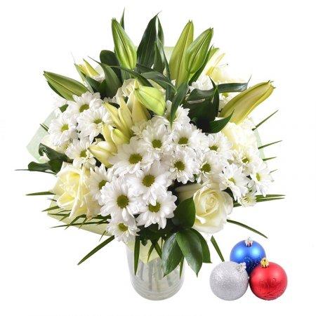Bouquet White waltz + Christmas balls
