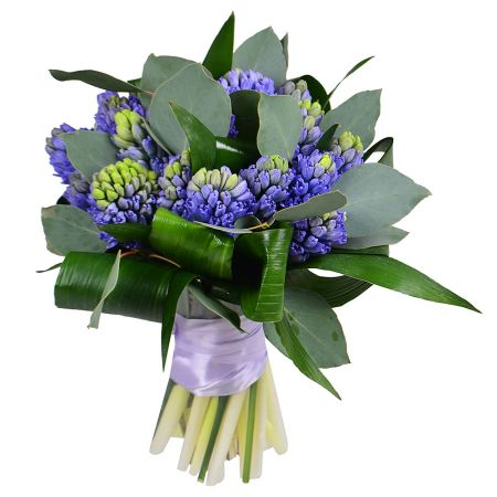 Buy bouquet of hyacinths and green with delivery