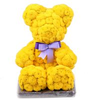 Bouquet Yellow teddy with a tie-bow