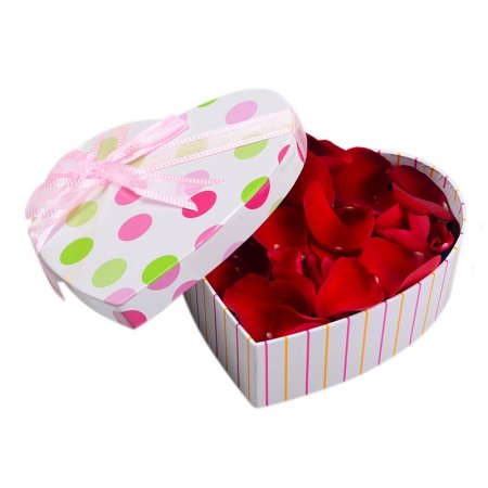 Order rose petals in a box in our online shop. Delivery!