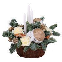 Order beautiful arrangement Christmas Evening
