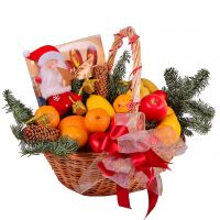 Order New Year Basket - Fruit and Sweets with delivery to any city