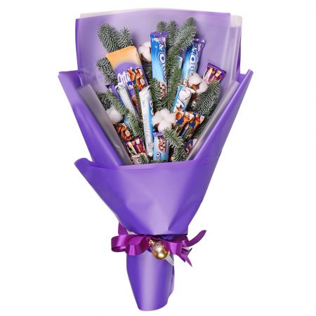Product New Year candy bouquet Milka