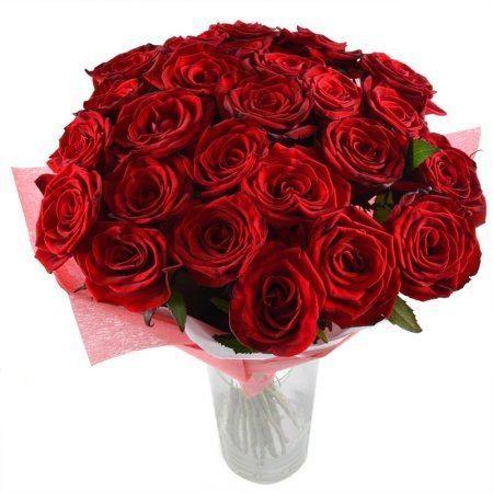 Bouquet 25 roses 60 cm