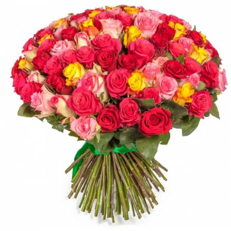 Bouquet Multicolored roses 101 pcs