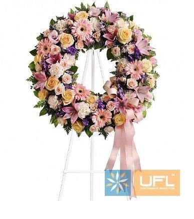 Bouquet Funeral arrangement of fresh flowers № 7