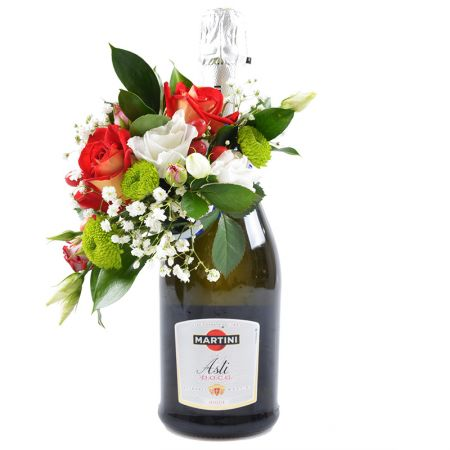 Product Champagne Asti Martini with flower decor