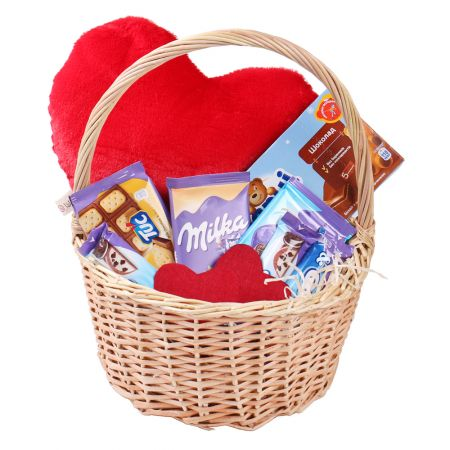 Product Sweet basket with heart
