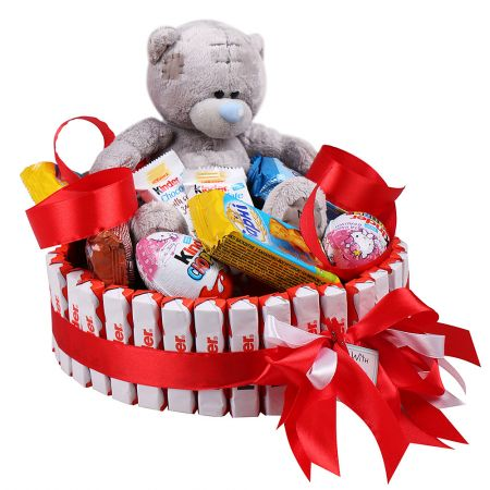 Kinder cake, Cake of kinders, unusual cake. cake of candies, kinder-surprise, cake delivery, sweet g