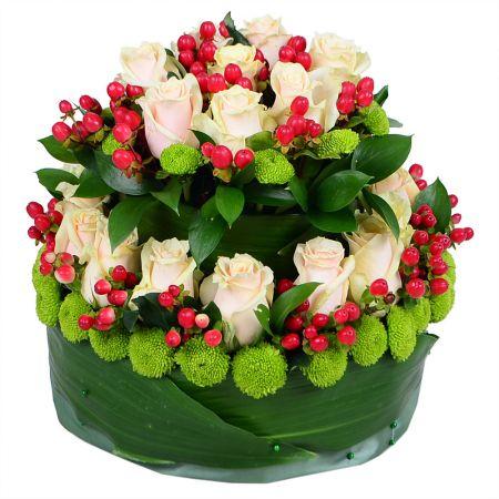 Bouquet Flower tiered cake