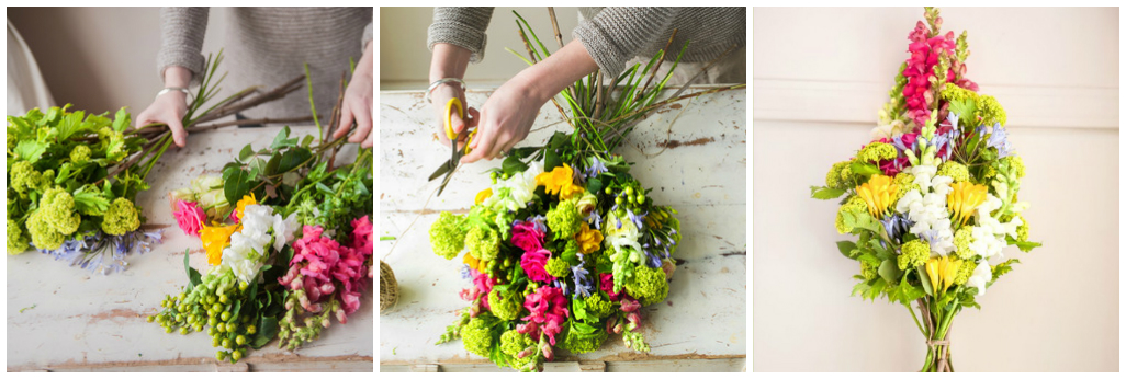 How to Assemble a BeautifulHow to Assemble a Beautiful Bouquet: Step by Step Photos
